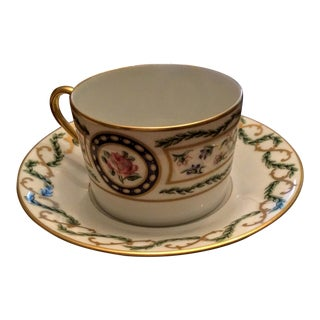 Haviland Limoges Flat Cup & Saucer in Louveciennes