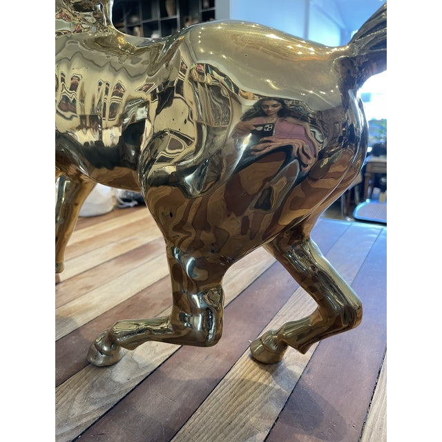 Vintage Brass Horse For Sale In Los Angeles - Image 6 of 9