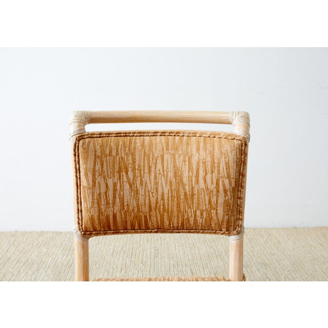 Wood McGuire Cerused Rattan Dining Chairs- Set of 9 For Sale - Image 7 of 13