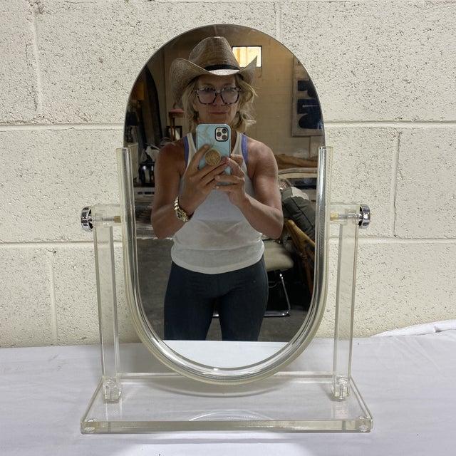 Vintage Lucite Vanity Mirror For Sale - Image 10 of 10