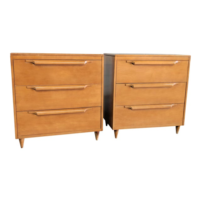 1960s Danish Modern Maple Dressers - a Pair For Sale