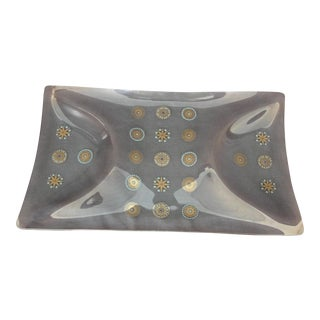 Sinclair Glass Molded Glass Serving Tray For Sale