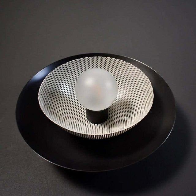 Centric Wall Sconce in Oil-Rubbed Bronze & White Enamel Mesh, Blueprint Lighting For Sale In New York - Image 6 of 7