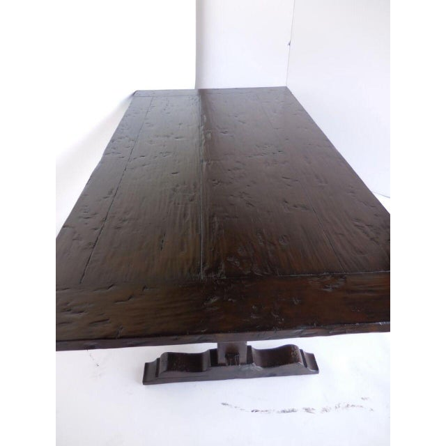 1920s Custom Trestle Table For Sale - Image 5 of 6