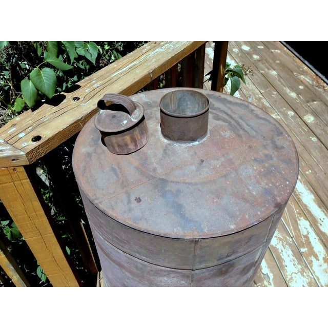 Antique 1880s Naphtha Barrel with Spigot For Sale - Image 4 of 6