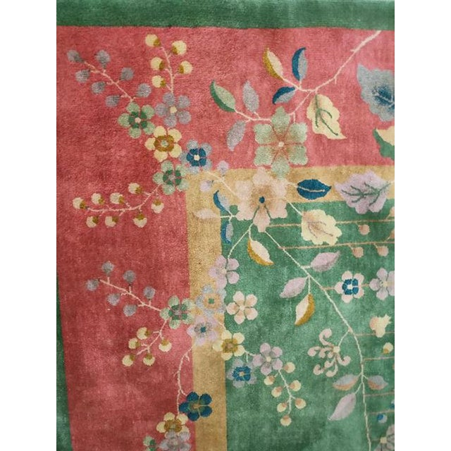 """Art Deco Antique Chinese Art Deco Rug 8'10"""" X 11'6"""" For Sale - Image 3 of 5"""