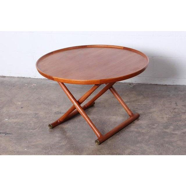 Brown Egyptian Table by Mogens Lassen for A.J. Iversen For Sale - Image 8 of 10