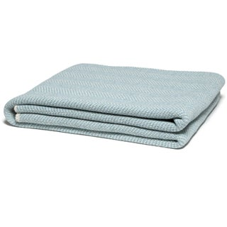 Eco Herringbone Blue Pond Throw Preview
