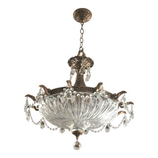 Schonbek Swarovski Lighting Florentine Bronze Milano Pendant Lightening Fixture