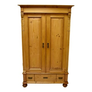 Pine Two Door Armoire For Sale