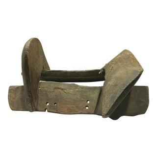 Antique Primitive Wood Saddle