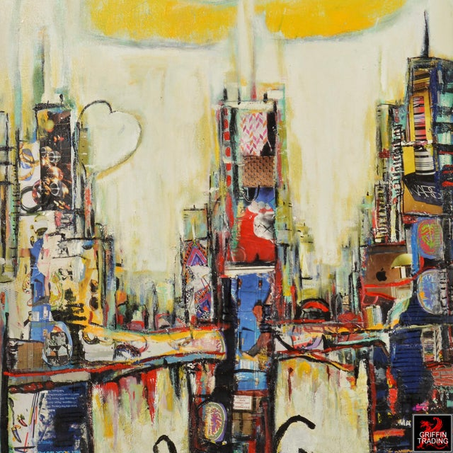 Abstract Chicago Cityscape Collage Artwork For Sale - Image 3 of 6