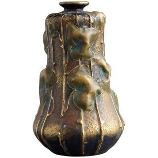 Art Nouveau Vase by Amphora, Turn-Teplitz Region of Bohemia, Circa 1904 For Sale