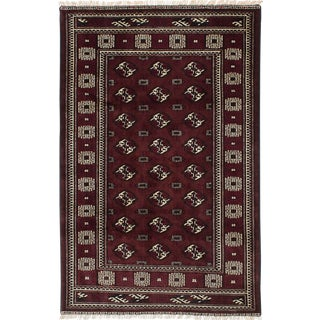 Vintage Mid-Century Persian Rug - 4′ × 6′3″ For Sale