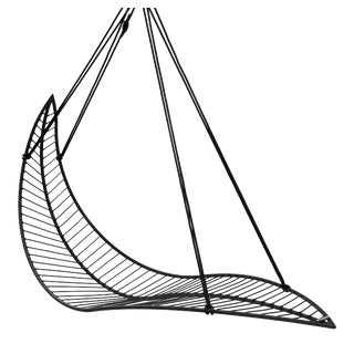 Leaf Hanging Swing Chair - Black For Sale