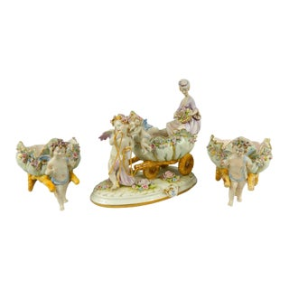 1980s Hand Painted Capodimonte Compotes For Sale