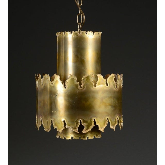 "Pendant by Holm Sorensen, Denmark, circa 1960s. Dimensions: Patinated brass. H 14""; diameter 11"". Existing European..."