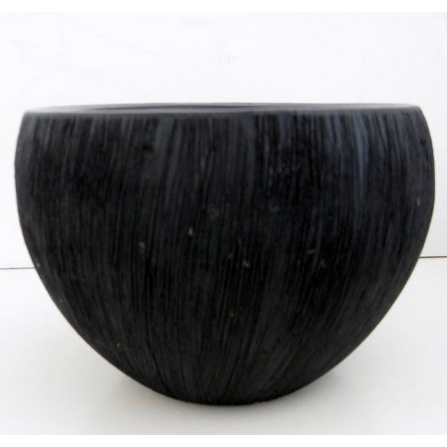 Black Matte Ceramic Bowl - Image 2 of 5