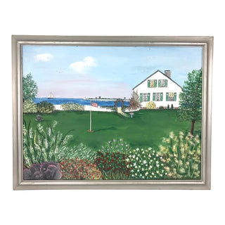 """The Cottage by the Sea"" Framed Painting For Sale"