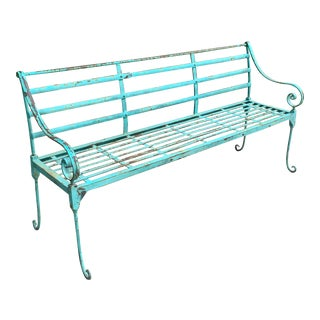 French Iron Outdoor Garden Bench For Sale