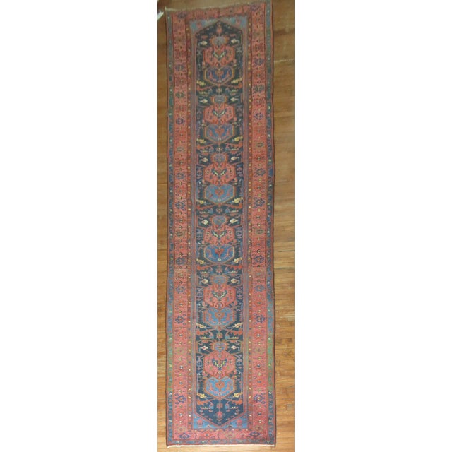 Vintager Persian Runner - 3′ × 16′ - Image 2 of 5