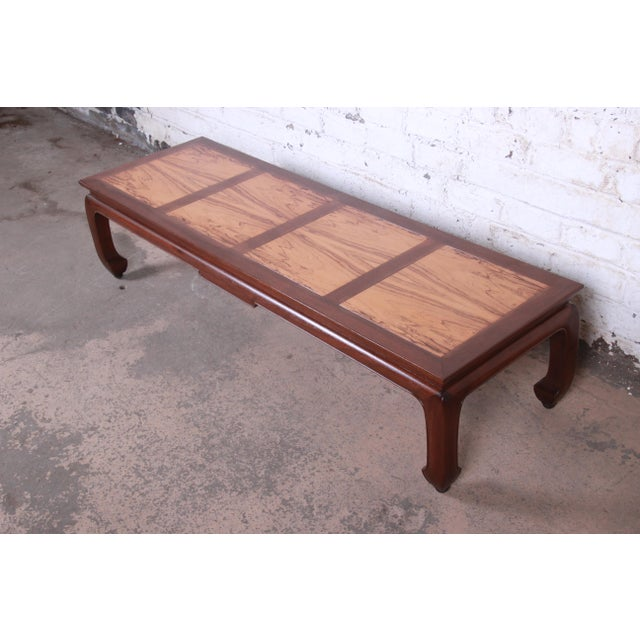 Michael Taylor for Baker Chinoiserie Rosewood and Walnut Coffee Table, Newly Restored For Sale - Image 12 of 12