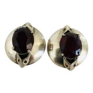 Vintage Sterling Castlecliff Clip Earrings - a Pair For Sale