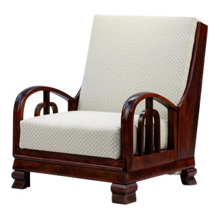 1920s Lajos Kozma Style Fully Restored Bed Armchair For Sale