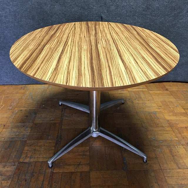 Crate & Barrel Modern Round Dining Table - Image 9 of 10
