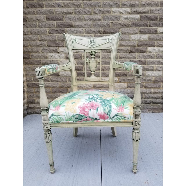 Italian Neoclassical Painted Armchair For Sale - Image 13 of 13