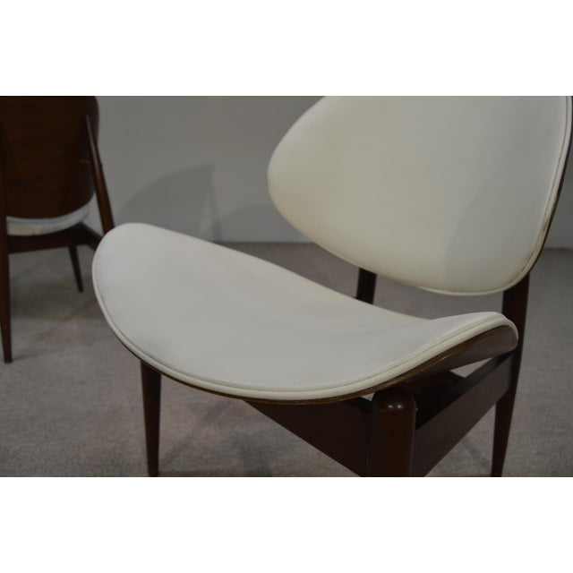Kodawood Bent Walnut & Leather Lounge Chairs - A Pair - Image 3 of 3