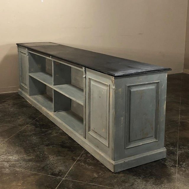 Early 19th Century 19th Century Painted Store Counter For Sale - Image 5 of 9