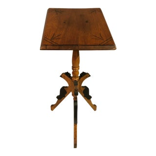 1940s Traditional Tall Accent End Table For Sale