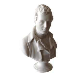 Vintage Young Napolean Bonaparte Bisque Sculpture -Final Markdown For Sale