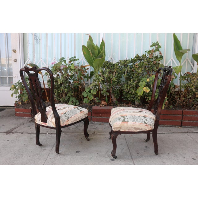 Early 1900's Italian Low Chairs- A Pair For Sale In Los Angeles - Image 6 of 9