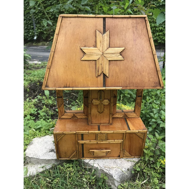 Wood Tramp Art Wooden Table Lamp For Sale - Image 7 of 7