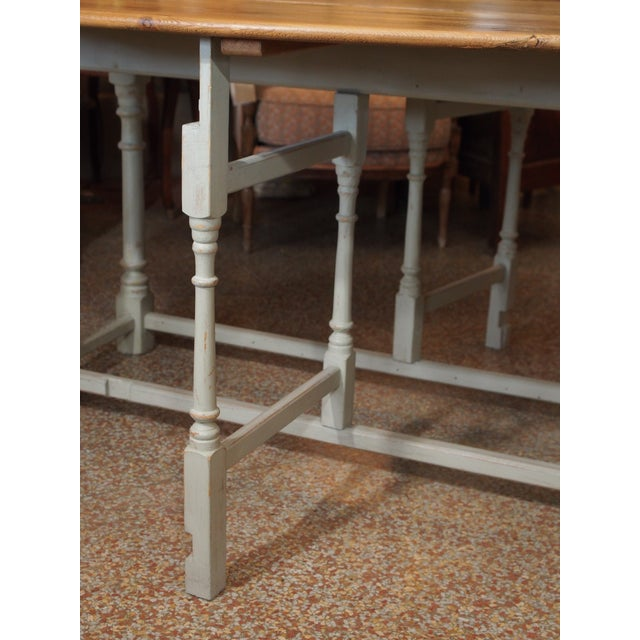 Early 19th Century 19th Century Swedish Peach Pine Dining Table For Sale - Image 5 of 13