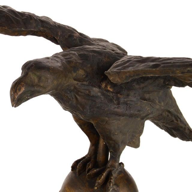 Copper Flying Eagle Antique Copper Weathervane For Sale - Image 8 of 13