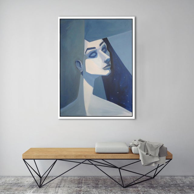 """Blue Girl"" Abstract Framed Giclée Print - Image 3 of 3"