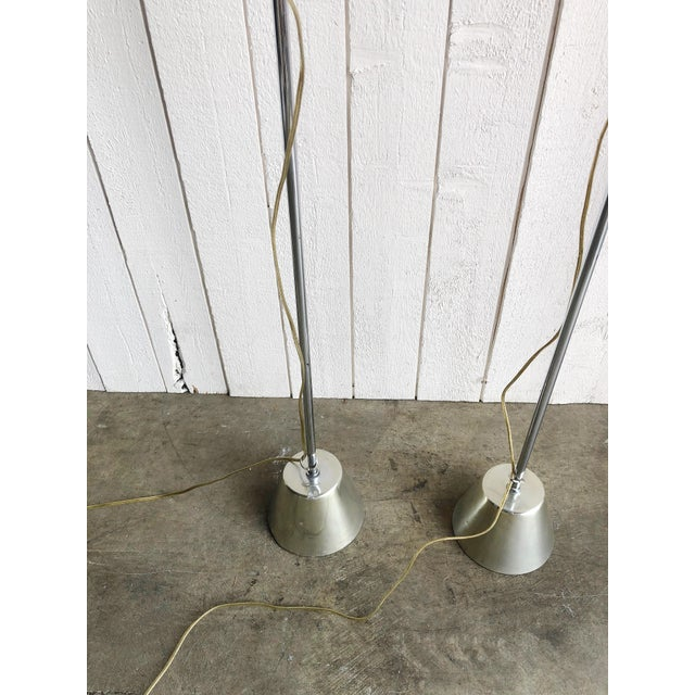 1970s Adjustable Chrome Reading Lamps - a Pair For Sale - Image 5 of 9