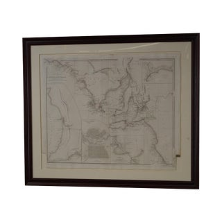 Antique W. Graham Arader III Framed Australian Map For Sale
