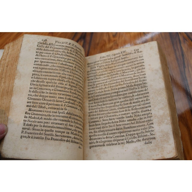 Tan 1668 Vellum Covered Text Published in Rome For Sale - Image 8 of 10