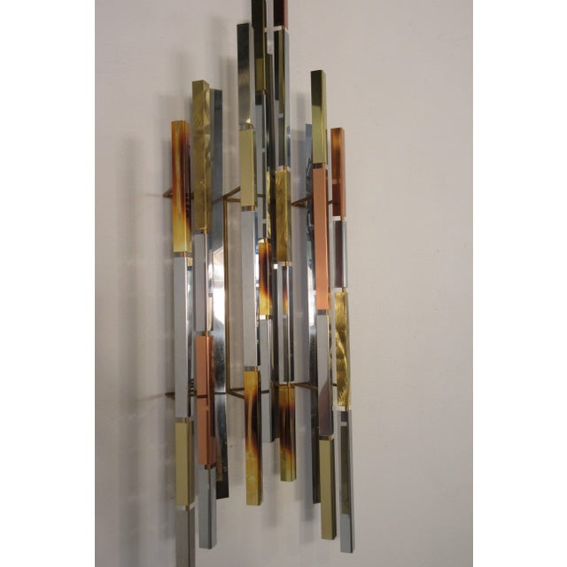 Mid-Century Modern 1970s MIX Metal Wall Sculpture For Sale - Image 3 of 11