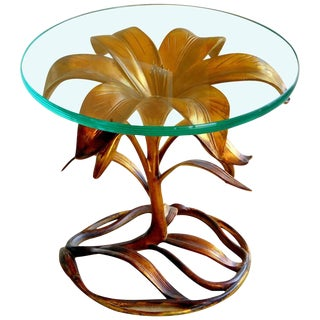Arthur Court Style Lily Table For Sale