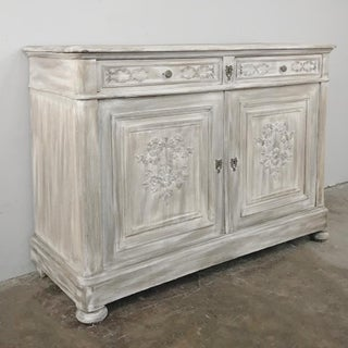 19th Century Country French Louis XVI Whitewashed Buffet Preview