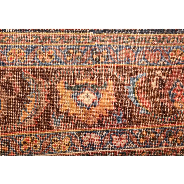 Afghan Antique Tabriz Persian Tree of Life Rug - 5′ × 6′10″ For Sale - Image 3 of 10