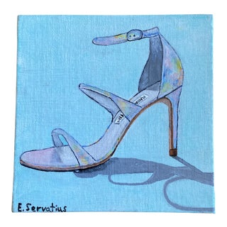 "2013 ""Manolo Blahnik Shoe"" Fashion Acrylic Painting For Sale"