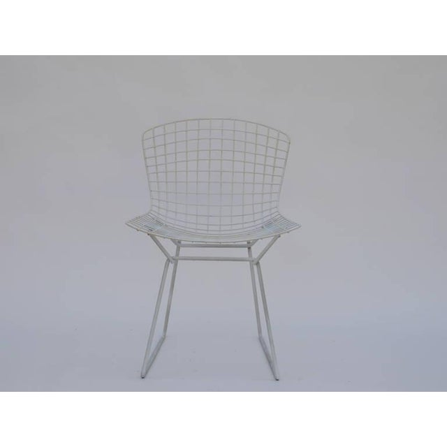 Metal Set of Four Original Wire Chairs by Harry Bertoia for Knoll For Sale - Image 7 of 7
