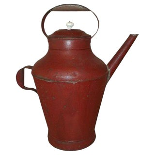 Red Lyonnaise Water Jug For Sale