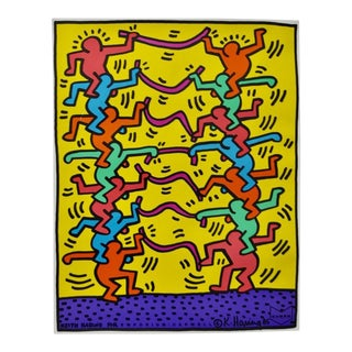 "Keith Haring ""Emporium Capwell"" Offset Lithograph Exhibition Poster c.1985"
